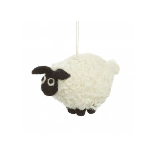 Felt So Good Black faced Sheep  Felt  Ornament  09