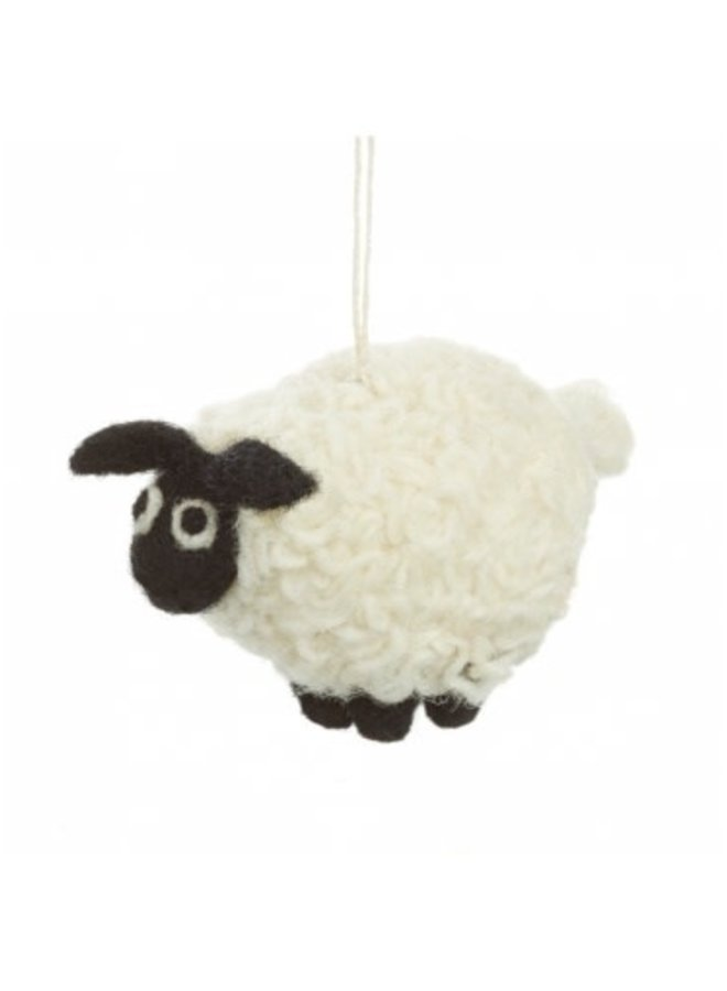 Black faced Sheep  Felt  Ornament  09
