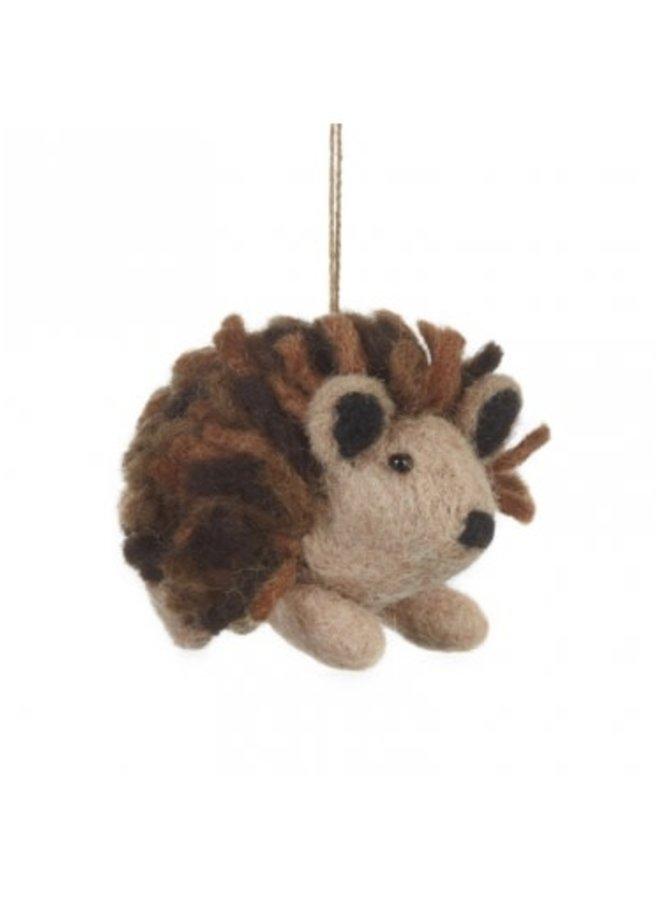 Hedgehog  Felt  Ornament  08
