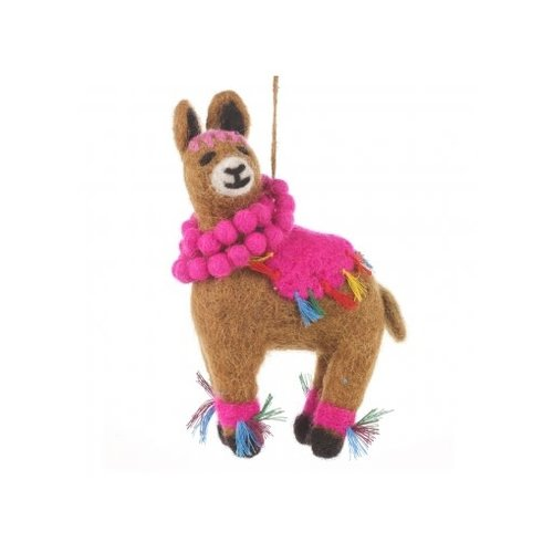 Felt So Good Llama Fiesta Felt  Ornament  06