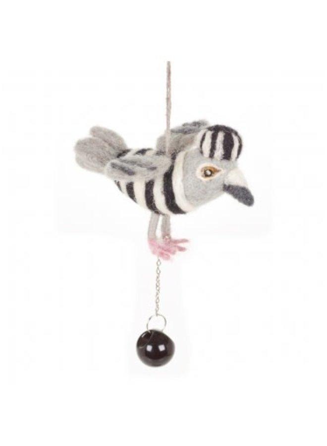Jail Bird with ball and chain  Felt  Ornament  04