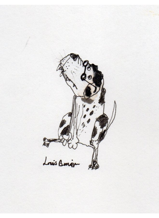 Be Spectable Hound  pen and ink 010