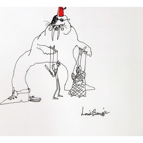 Louis Benoit Walrus Puppeteer  pen and ink 004
