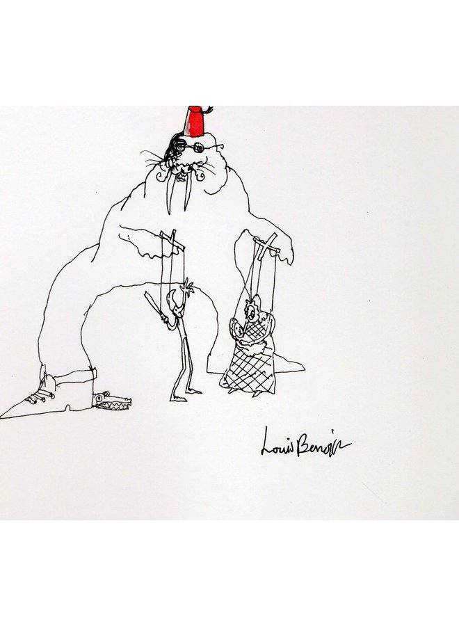 Walrus Puppeteer  pen and ink 004