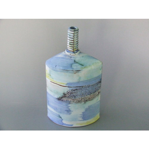 Dianne Cross Seashore Bottle 1    Stoneware   18