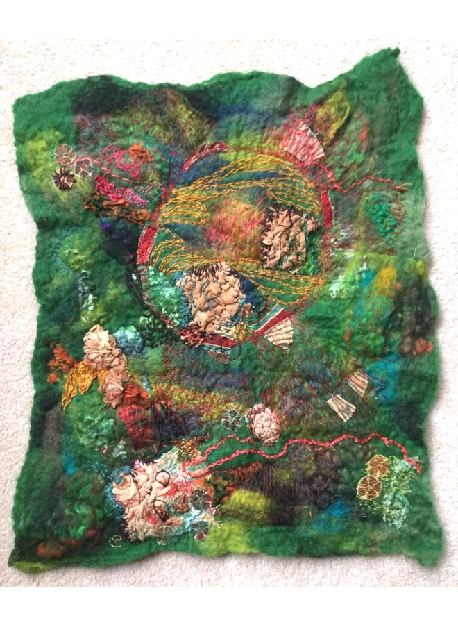 Meanderings of the Needle  embroidered textile 05