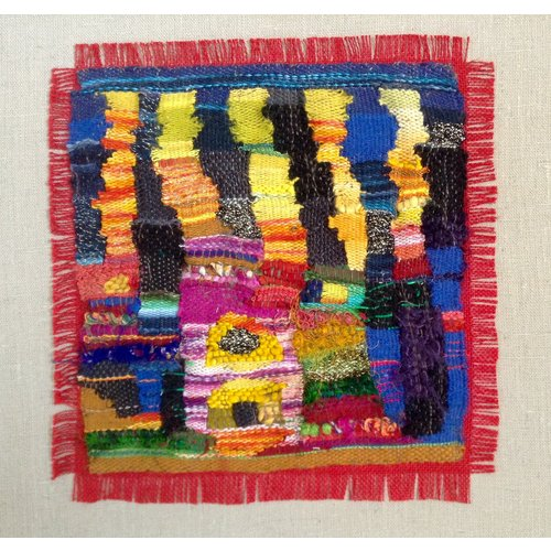 Claire Cooper-Walsh Homage to Hundertwasser embroidered textile 02