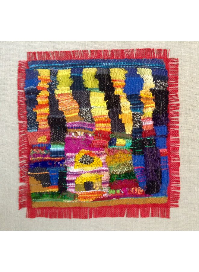 Homage to Hundertwasser embroidered textile 02