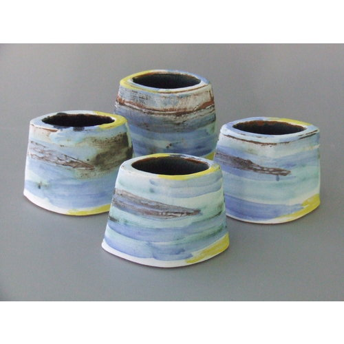 Dianne Cross Little Shoreline Angled  Vessel  Stoneware   24