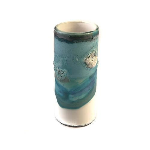 Anja  Stoneware Windowsill pod vase 14