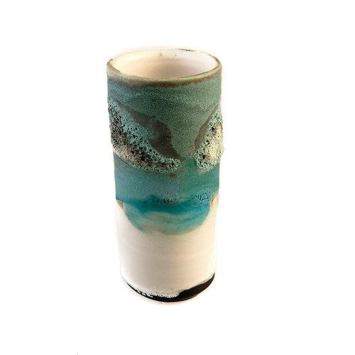 Anja  Stoneware Windowsill pod vase 13