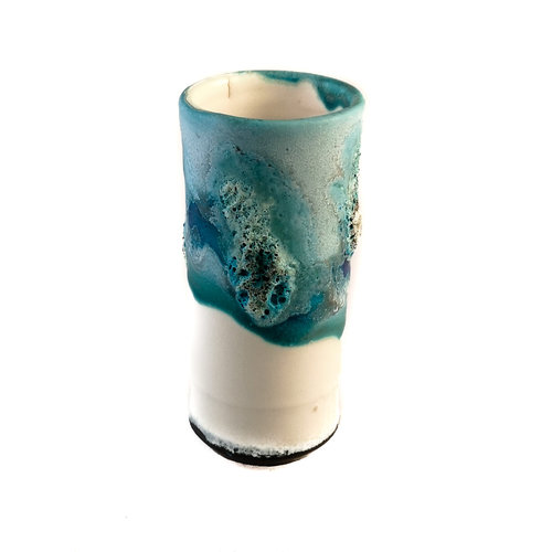 Anja  Stoneware Vaso de vaina de alféizar 12
