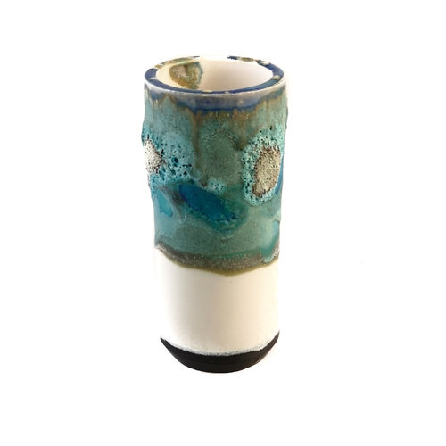 Anja  Stoneware Vaso de vaina de alféizar 09