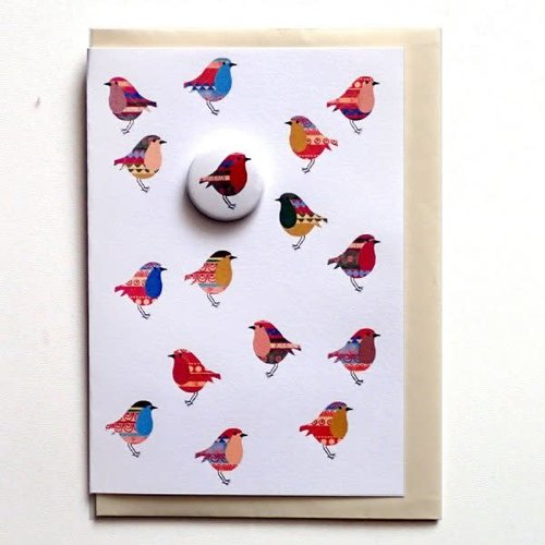 Black Rabbit Trifle Robins Badge Card