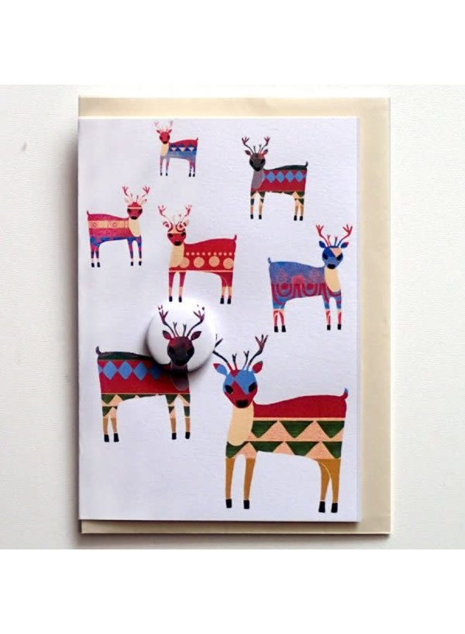 Trifle Reindeer Badge Card