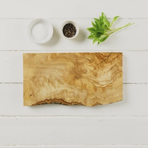 Naturally Med Olive Wood Rectangular Rustic  Chopping Board 15cm 033