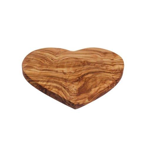 Naturally Med Tablero en forma de corazón de madera de olivo 45cm 031