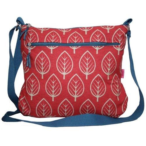 LUA Large Leaf Messenger Bag Chilli 250