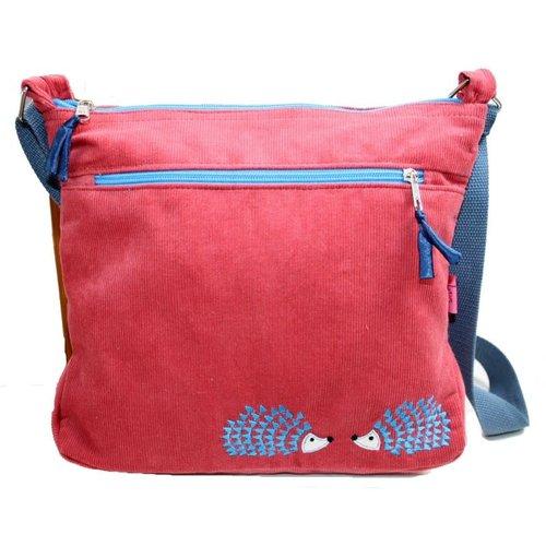 LUA Hedgehog Embroidered Messenger Bag Rose Pink 247