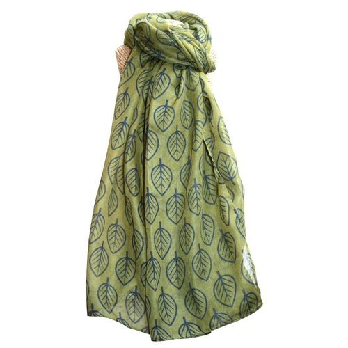 LUA Blätter Schal Olive 244