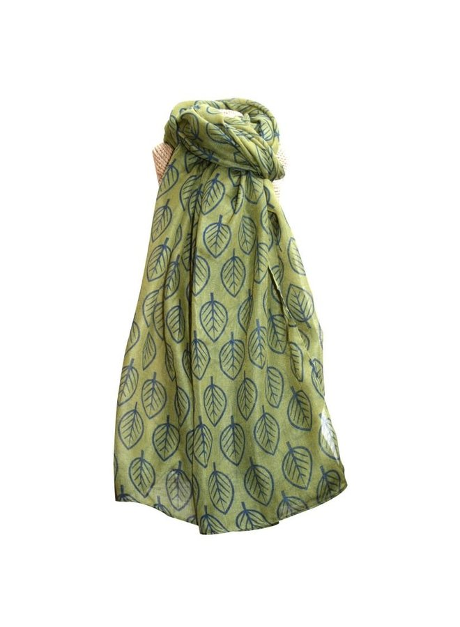Blätter Schal Olive 244