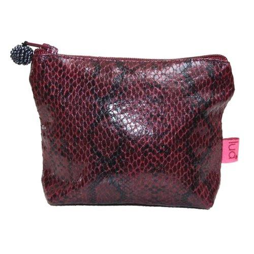 LUA Snakeskin mini purse Plum 280