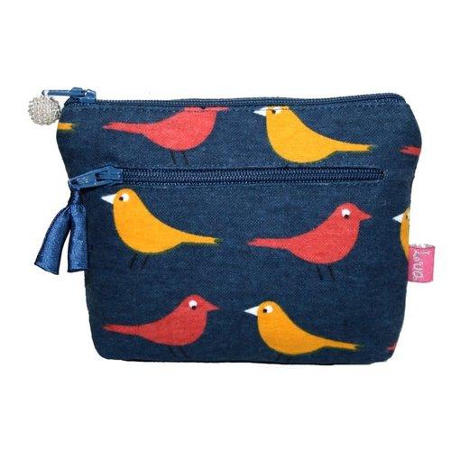 LUA Zipped Purse Birdy Petrol 276