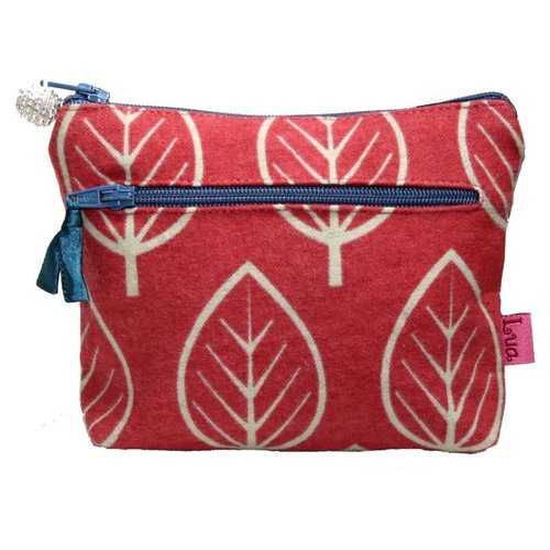 LUA Two Zipped Purse Leaf Chilli 274
