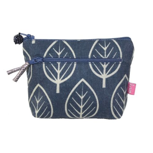 LUA Two Zipped Purse Leaf  Slate 273