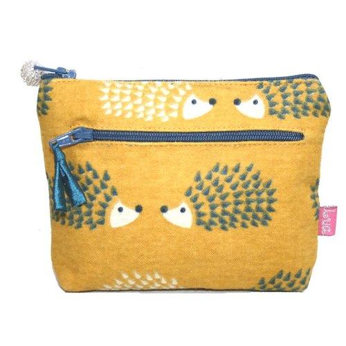 LUA Two Zipped Purse Hedgehog Mustard 272