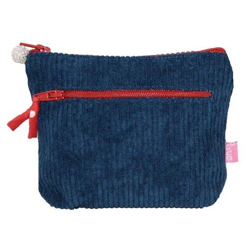 LUA Geldbörse mit Reißverschluss Jumbo Coruroy Teal / Brick 269