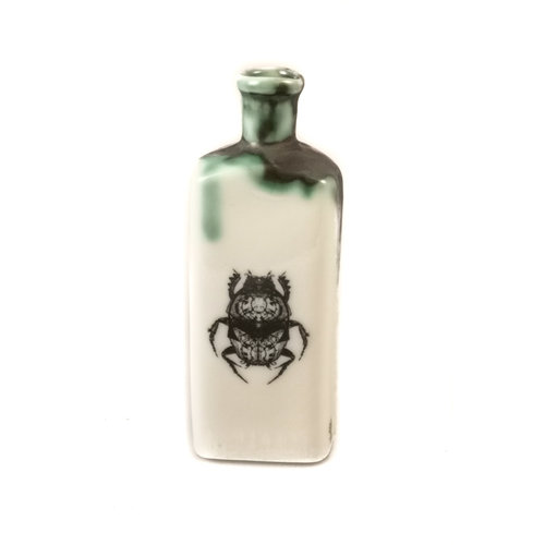 Jillian Riley Designs Scarab Beetle Triangular bottle 134