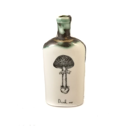 Jillian Riley Designs Flat Top Toadstool  bottle 128
