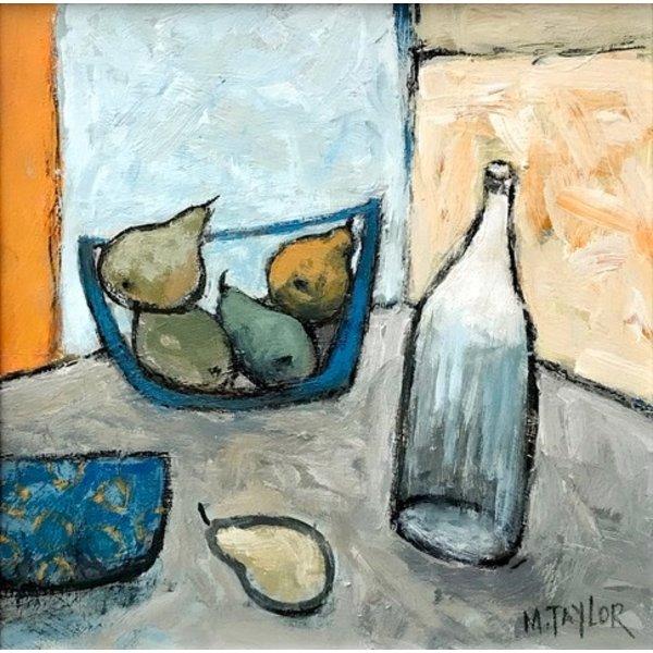 Blaue Schale mit Birnen 28