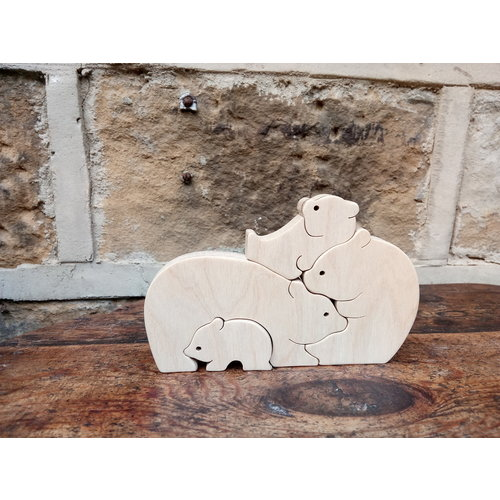 Woofer Wood Bear Family 4 bears 02
