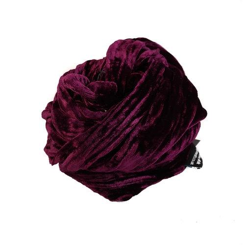 Lady Crow Silks Blackcurrant silk Double Velvet scarf 089
