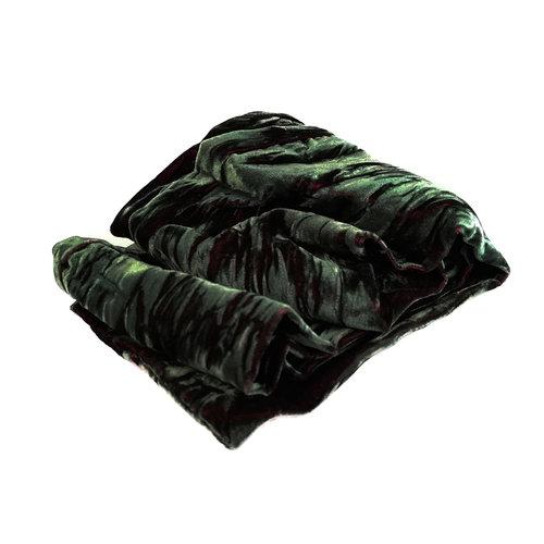 Lady Crow Silks Irridecent Velvet Scarf  Emerald  Boxed 100