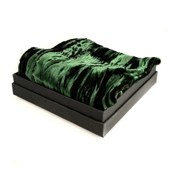 Irridecent Velvet Scarf  Emerald  Boxed 100