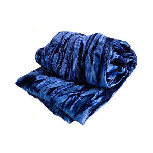 Lady Crow Silks Sapphire Iridescent Velvet scarf 093