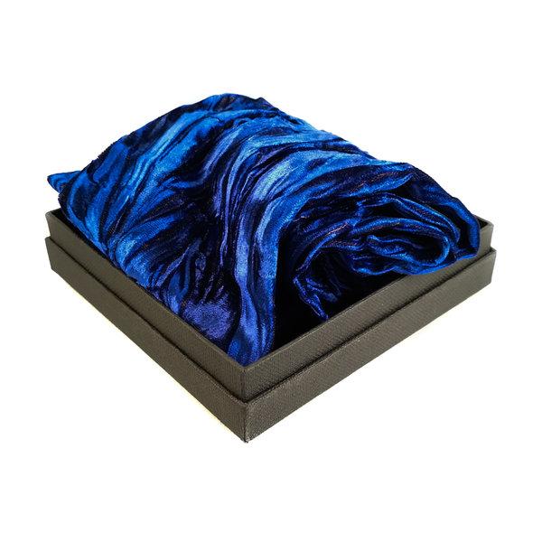 Sapphire Iridescent Velvet scarf 093