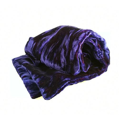 Lady Crow Silks Amethyst  Iridescent Velvet scarf 094