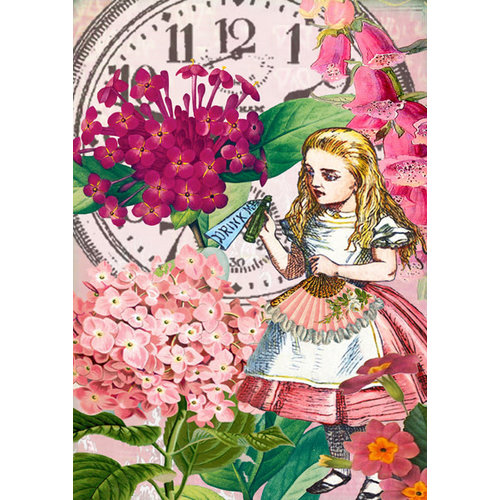 Madame Treacle Alice Drink Me Card