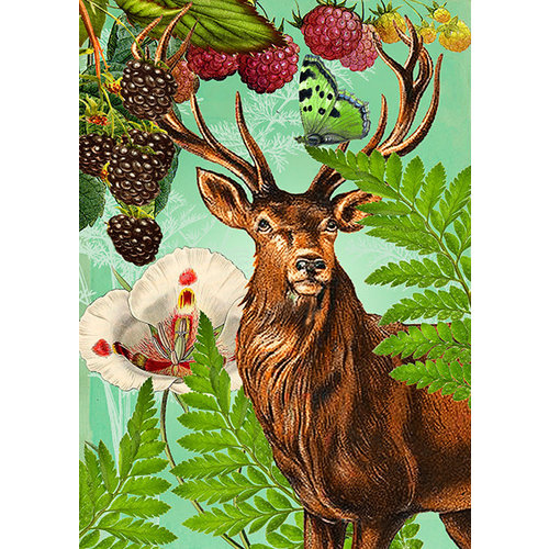 Madame Treacle Woodland Stag Card