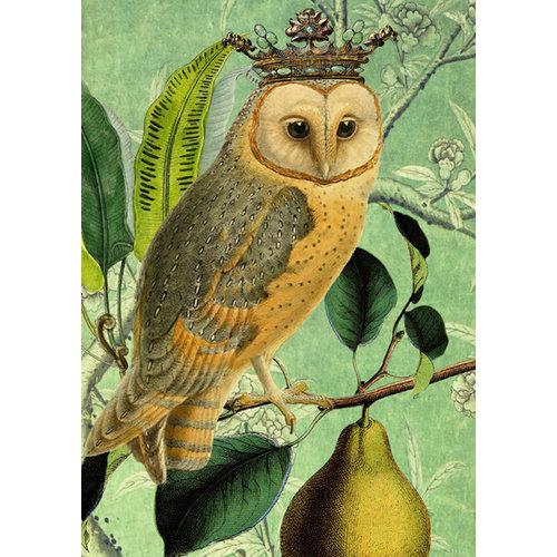 Madame Treacle The Owl & the Pear card