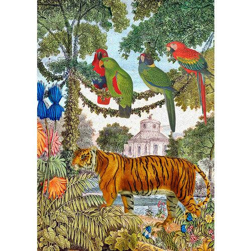 Madame Treacle Tiger in the Garden card