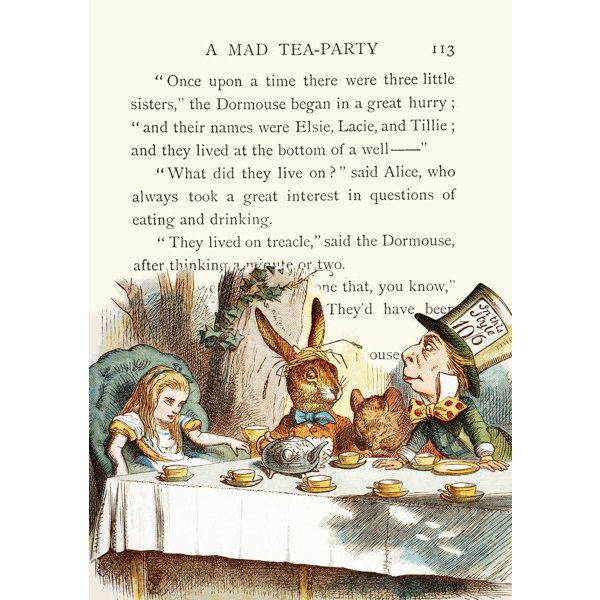 The Mad Hatter's Tea Party  card