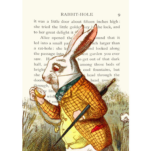 Madame Treacle The White Rabbit  card