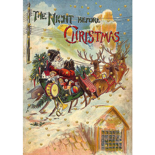 Madame Treacle The Night Before Christmas glitter card