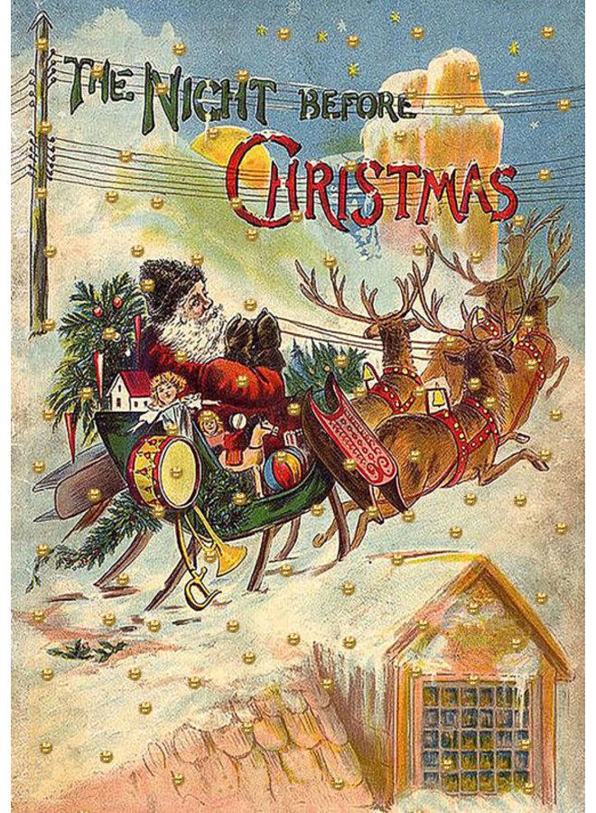 Die Nacht vor Weihnachten Glitzerkarte