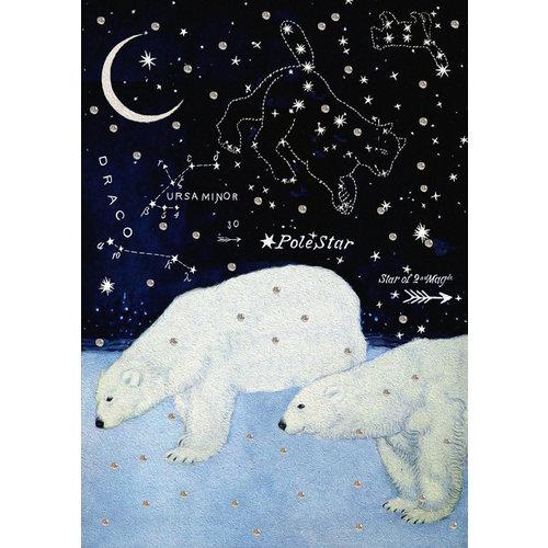 Madame Treacle Star Bears Glitter Card